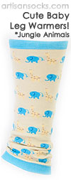 Baby Leg Warmers - Elephant and Giraffe Leg Warmers for Babies and Tots