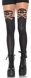 Skull and Crossbone Tights with Nude Top