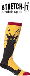 Chat Noir Knee High Socks (STRETCH-IT Extra Stretchy Version)