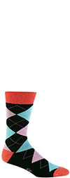 Men's Bright Argyle Crew Socks