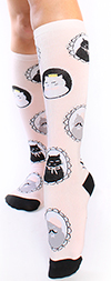 Cameo Cat Knee High Socks
