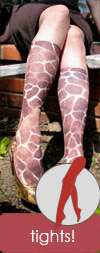 Celeste Stein Brown Giraffe Animal Print Tights