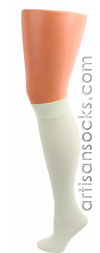 Celeste Stein WHITE COOLMAX Knee High Stockings / Trouser Socks
