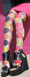 Celeste Stein Lurex BIG DOT Print Tights / Stockings