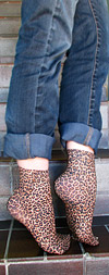 Celeste Stein Small Leopard Print Short Trouser Socks