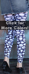 Celeste Stein SKULL Print Leggings / Footless Tights
