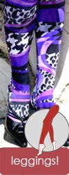 Celeste Stein Striped Purple Mamba and Animal Print Leggings / Footless Tights