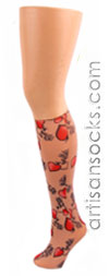 Celeste Stein Tattoo Print Knee High Stockings / Trouser Socks