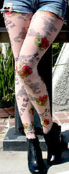 Celeste Stein Old English Tattoo Print Leggings