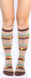 Double Double Cheeseburger Knee High Socks