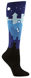 Cityscape and Alley Cat Knee High Socks