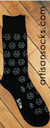 Dieselsweeties D20 Gamer Dice Novelty Cotton Knee High Knee Socks