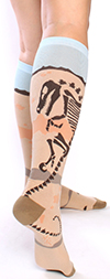 Dinosaur Fossil Knee High Socks