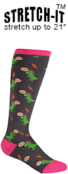 Dinomite Dinosaur Knee High Socks (STRETCH-IT Extra Stretchy Version)