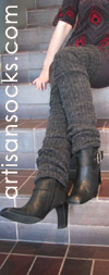 Thigh High Leg Warmers - Charcoal Grey Ribbed Leg Warmers