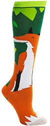 Soxy Lady Smiling Fall Fox Knee High Socks