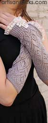 Grace and Lace Lacey Arm Warmers - Light Grey