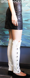 Grace and Lace Miss Molly Button Down Leg Warmers - Creme de Creme