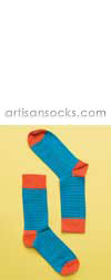 Happy Socks Thin Striped Aqua Cotton Crew Socks