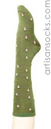 Hansel From Basel Haus Haus Knee High - Olive  Wool Knee High Socks