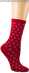 Holiday Socks - Snowflake Patterned Socks -in 3 Colors!