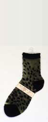 Japanese Silk Leopard Print Ankle Length Silk Stockings
