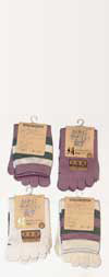 Japanese Silk Striped Ankle Length Toe Socks Mauve