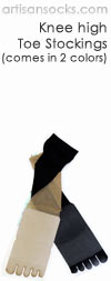 Japanese Women's Socks - Sheer Knee High Toe Stockings