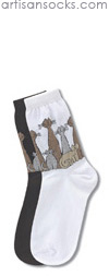 Cat Family White Cotton Crew Socks