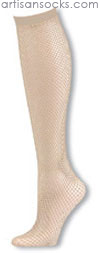 K. Bell Nude Knee High Fishnet Stockings