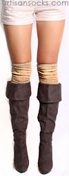 Glam Gold Socks - Gold Over the Knee Socks by K. Bell