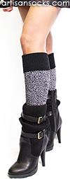Soft and Dreamy Boot Socks - Knee High Socks with Black Cuff by K. Bell