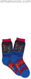 K. Bell Laurel Burch Loving Horses - Multicolor Cotton Socks