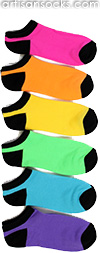 Rainbow Colored Ankle Socks - Assorted 6 Pack by K. Bell