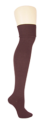 K. Bell Soft and Dreamy Over the Knee Socks- Dark Brown