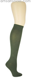K. Bell Soft and Dreamy Solid Color Knee Highs - Olive Knee High Socks