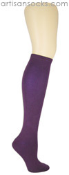 K. Bell Soft and Dreamy Solid Color Knee Highs - Plum Knee High Socks