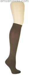 K. Bell Soft and Dreamy Solid Color Knee Highs - Brown Knee High Socks