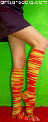 K. Bell Cosmic Cotton Knee High - Solar Cotton Knee High Knee Socks