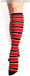 K. Bell Soft and Dreamy Preppy Striped Knee High Socks