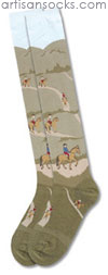 K. Bell Trail Ride Knee High - Novelty Cotton Knee High Knee Socks
