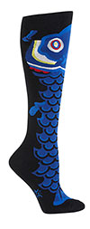 Koi Fish Kite Knee High Socks
