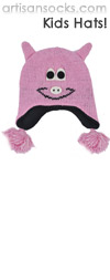 Kids Animal Hat: Pink Pig Animal Beanie with Ear Flaps for Kids!