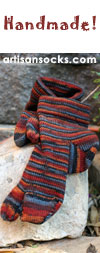 Landfair Originals Hand Made Knit Wool Striped Ankle Socks Tabi Socks