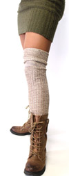 Shimmery Loose Knit Over The Knee-Gold