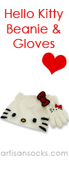 Loungefly Hello Kitty Beanie and Gloves Set