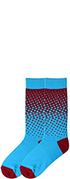 Men's Two Tone Fade Dots Socks - Red and Turquoise