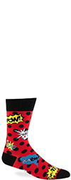 Men's Blamo! Comic Book Action Crew Socks