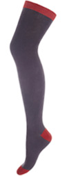 Minga Berlin Gray Over the Knee Socks - The Colors Excalibur OTK