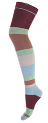 Minga Berlin Striped Over the Knee Socks - Layer Cake Mint Chocolate  OTK